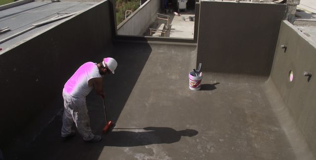 waterproofing of a swiming pool